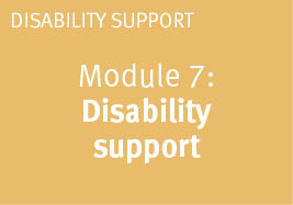 Module: 7 Disability support