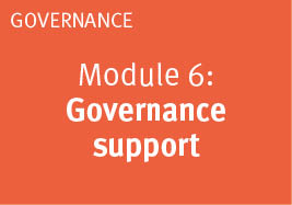 Module: 6 Governance support